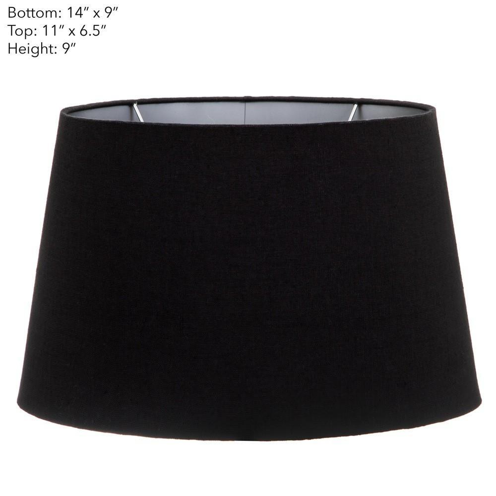 (14x9)x(11x9)x9 Blk Linen With Sil Lining