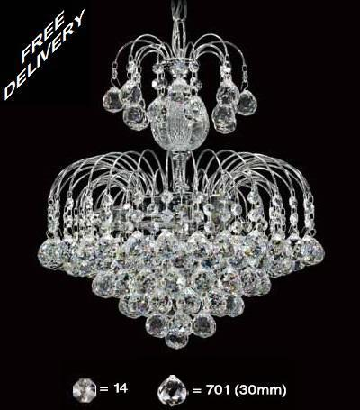 33cm Waterfall Asfour Crystal Chandelier (701)