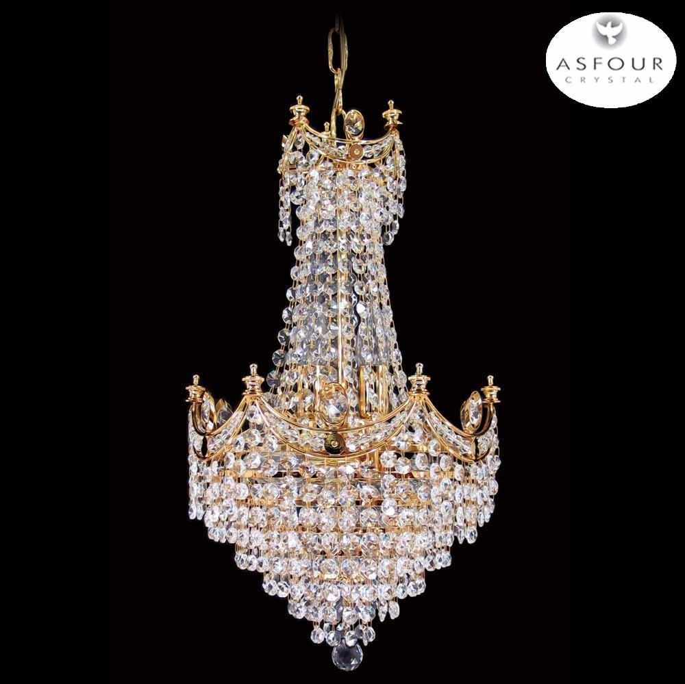 "702-12"" Asfour Crystal Chandelier"