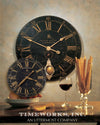 "Bond Street 30"" Black Wall Clock"