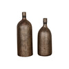 Biren Textured Antiqued Gold Vases Set/2