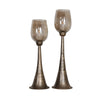 Badal Antiqued Gold Candleholders Set/2
