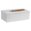 Nephele White Stone Box