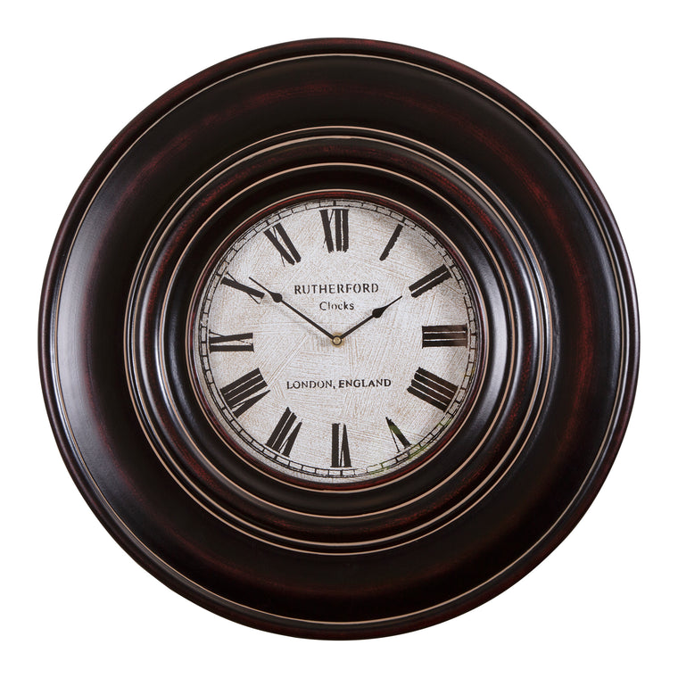 "Adonis 24"" Wooden Wall Clock"