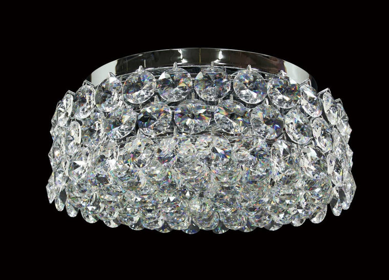 "8 light - 17"" Bracelet Chrome Crystal Flush mount"