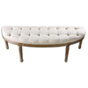 Leggett Tufted White Bench