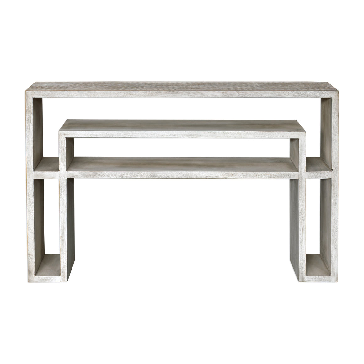 Genara Bone White Carved Console Table