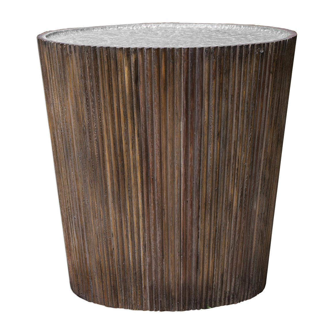 Amra Reeded Round Accent Table