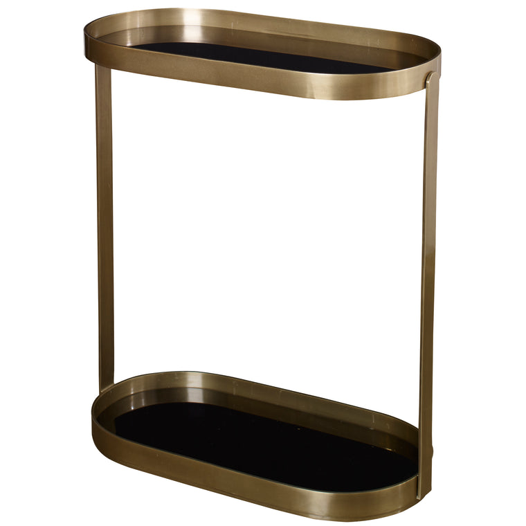 Adia Antique Gold Side Table
