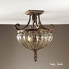 Galeana 2 Light Glass Semi Flushmount
