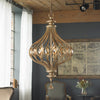 Sabina Gold and Crystal Pendant Light by Uttermost