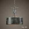 Leland 3 Light Metal Drum Pendant