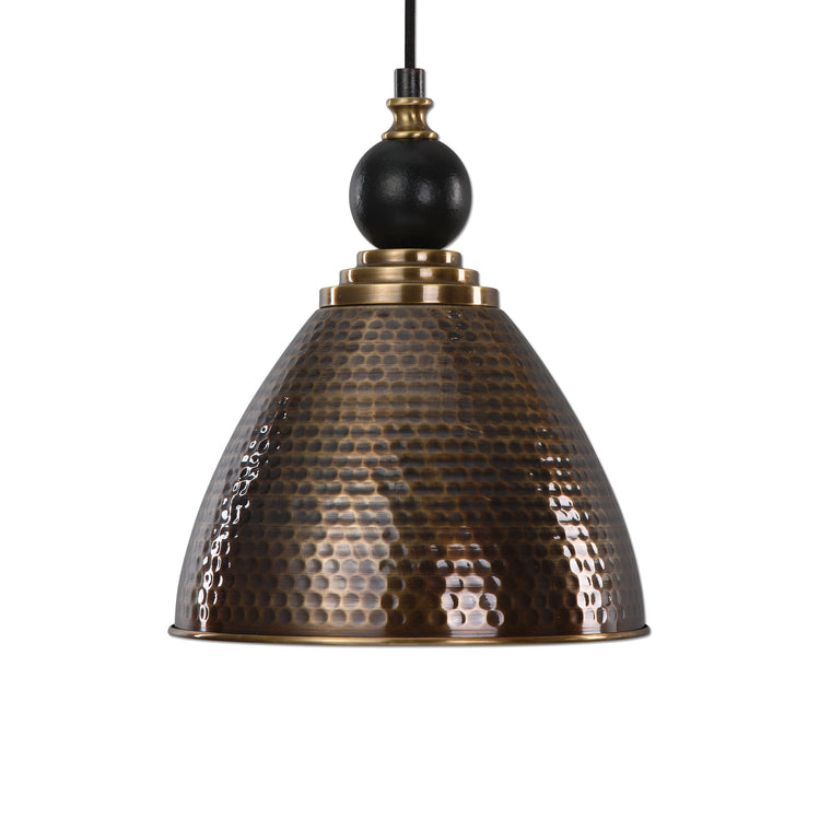 Adastra 1 Light Antique Brass Pendant