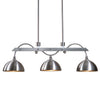 Malcolm 3 Light Nickel Industrial Island Light