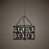 Rhombus 5 Light Bronze Pendant