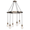 Milo 6 Light Industrial Ring Chandelier