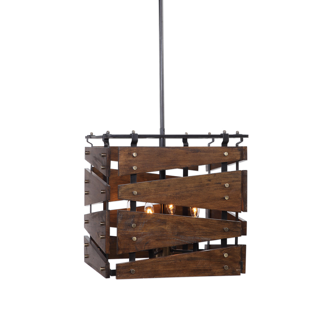Augie 4 Light Industrial Pendant