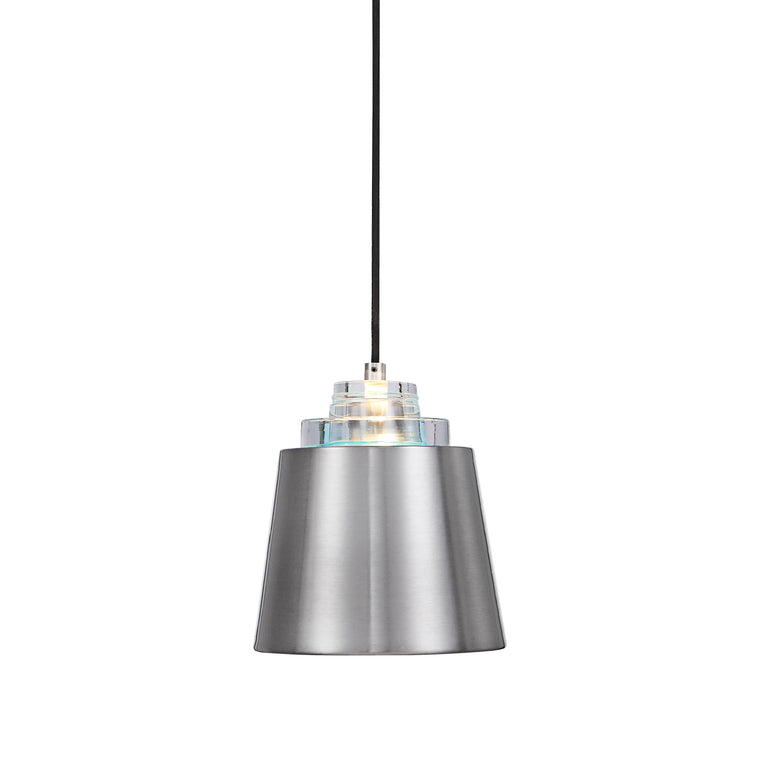 Pratt 1 Light Nickel Mini Pendant