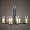 Jarsdel 8 Light Industrial Chandelier