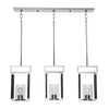 Newburgh 3 Light Nickel Linear Pendant