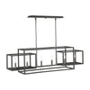 Quadrangle 6 Light Rectangular Chandelier