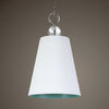 Delray White 1 Light Pendant