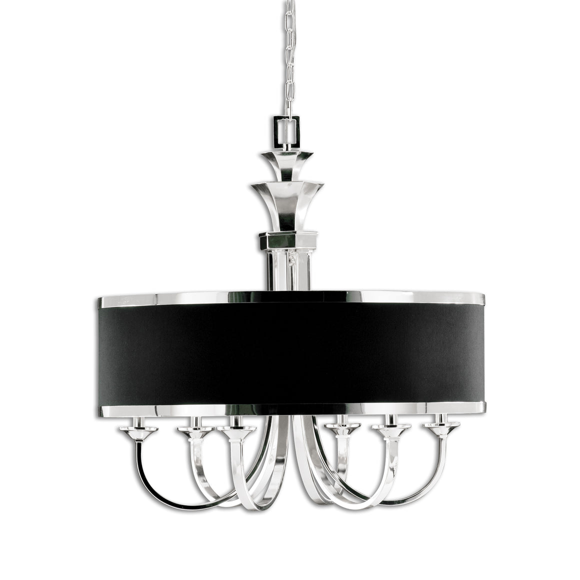 Tuxedo 6 Light Black Shade Chandelier