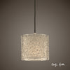 Brandon Silver 1 Light Mini Drum Pendant