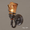 Vitalia 1 Light Bronze Wall Sconce
