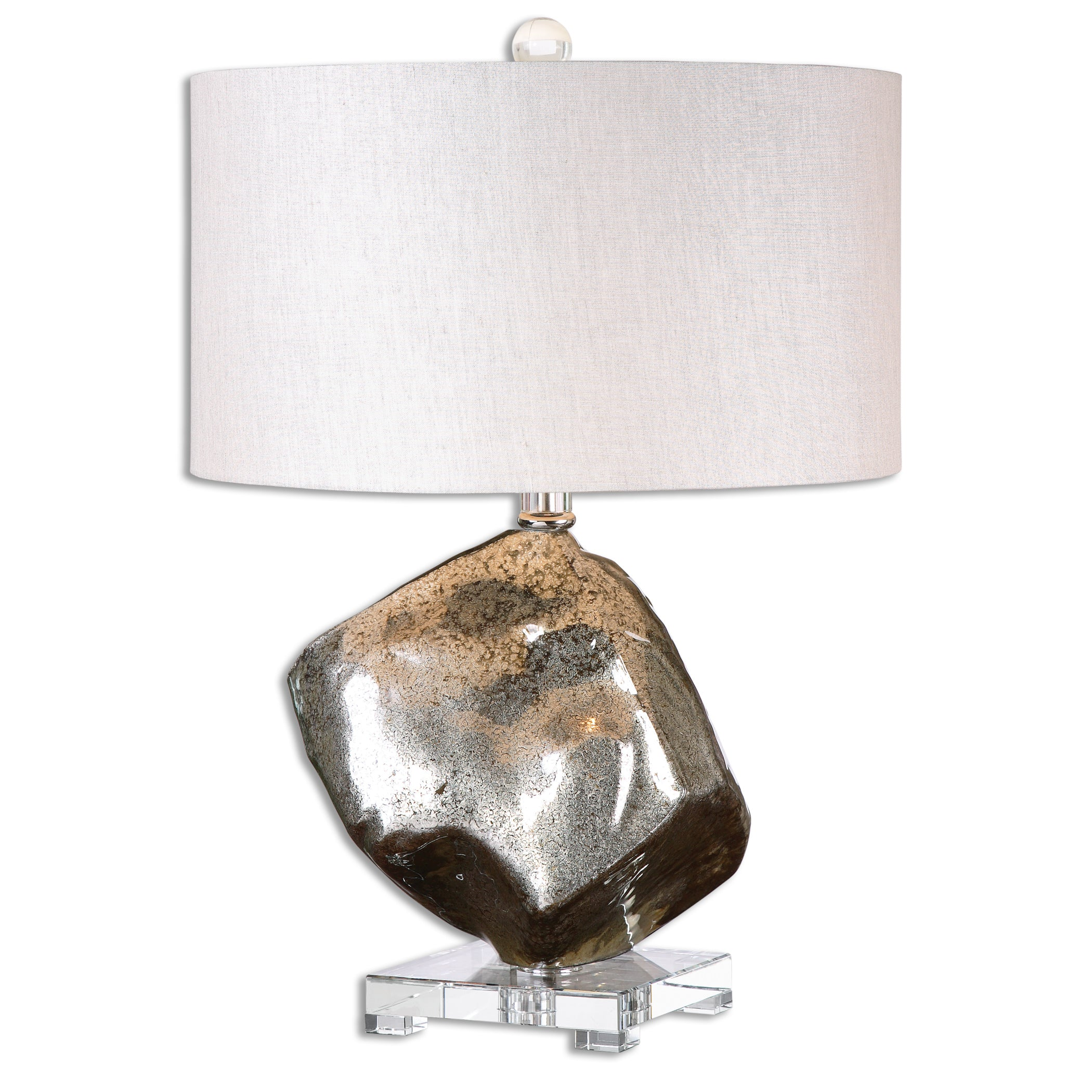 Image of: Everly Mercury Glass Table Lamp By Uttermost Chic Chandeliers