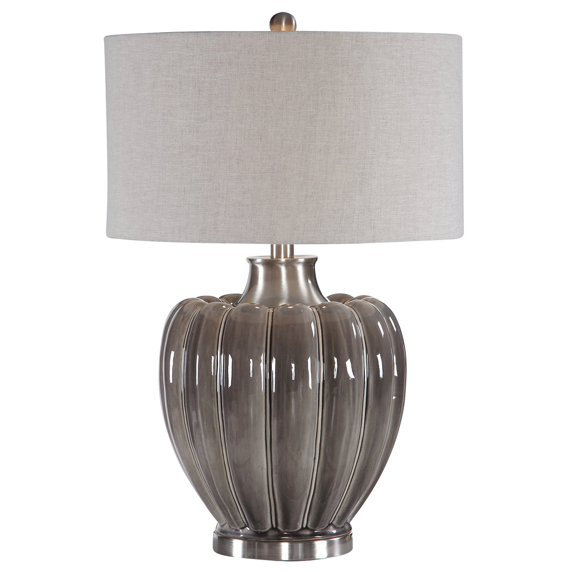 Adler Smoky Gray Table Lamp