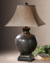 Villaga Brown Glaze Table Lamp