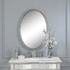 Sherise Brushed Nickel Oval Mirror