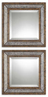 Norlina Squares Antique Mirror Set/2