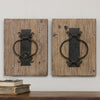 Rustic Door Knockers Wall Art S/2