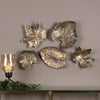Bronze Leaves Wall Art Set/5