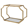 Lindee Gold Wall Shelves S/3