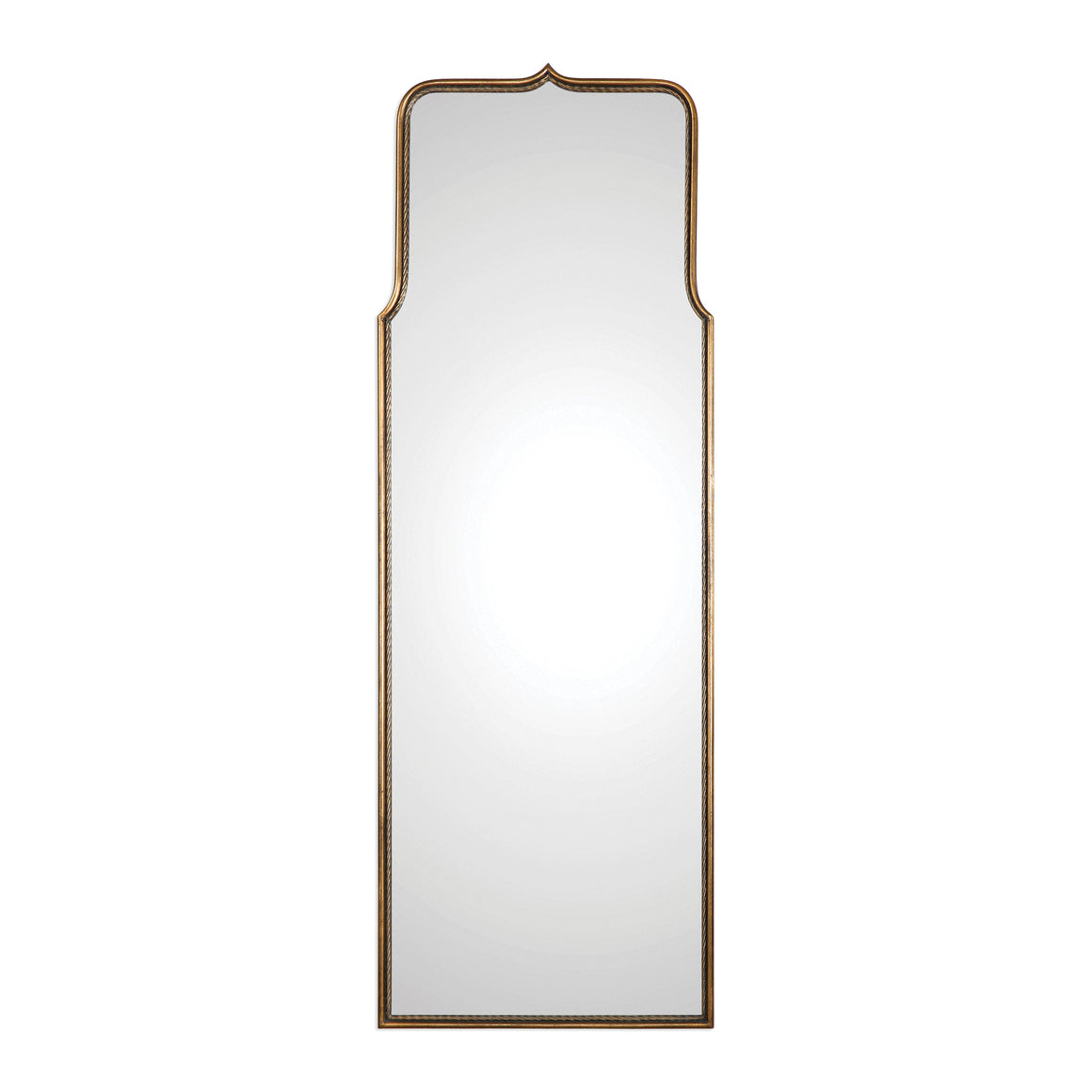 Adelasia Antiqued Gold Mirror