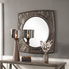 Hadeon Hammered Iron Mirror