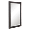 Gower Aged Black Vanity Mirror