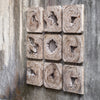 Bahati Wood Wall Art, S/9