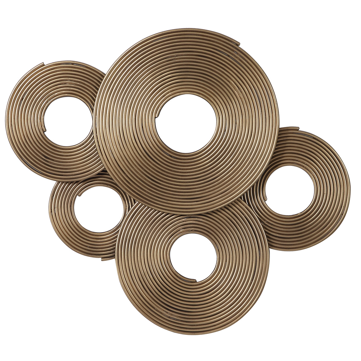 Ahmet Gold Rings Wall Decor