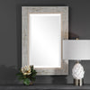 Branbury Rustic Light Wood Mirror