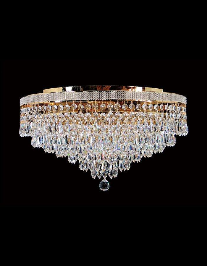 Oasis Eight Light Close to Ceiling Asfour Crystal Chandelier