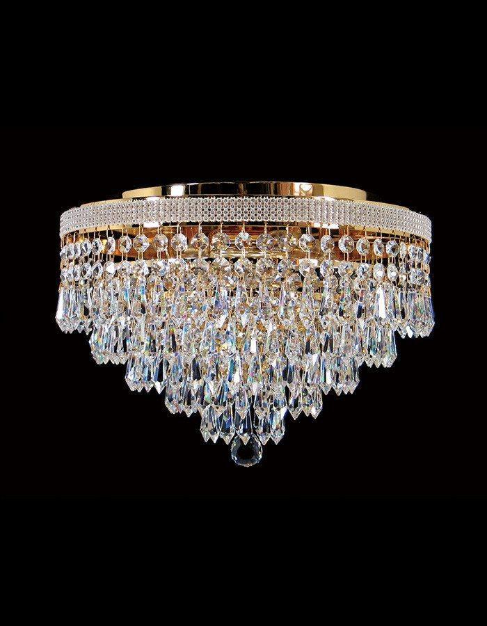 Oasis Four Light Close to Ceiling Asfour Crystal Chandelier