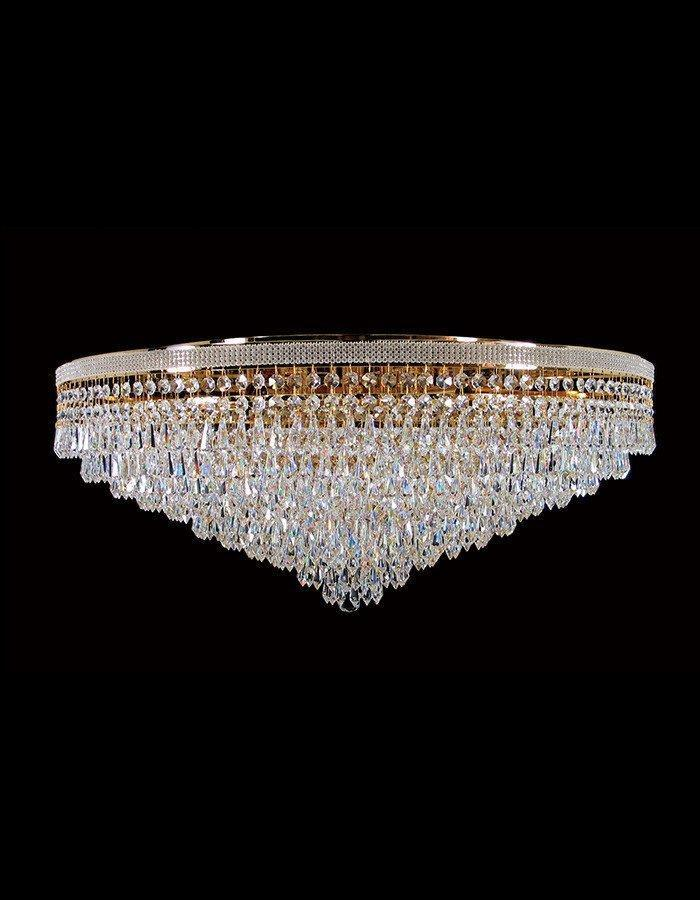 Oasis Twelve Light Close to Ceiling Asfour Crystal Chandelier