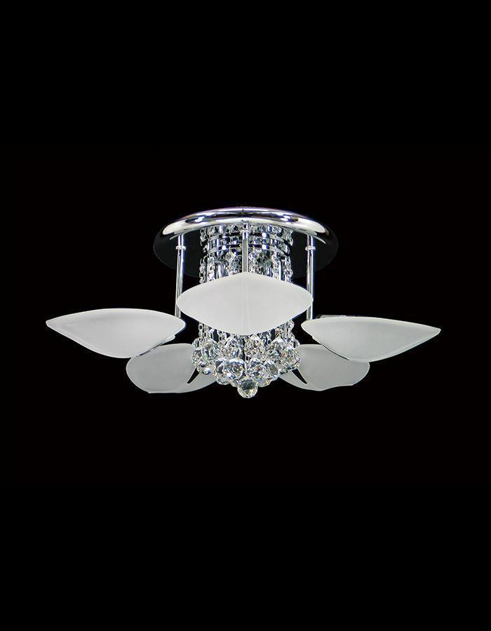 Asfour Crystal - Petal Eight Light Asfour Crystal Close To Ceiling Light