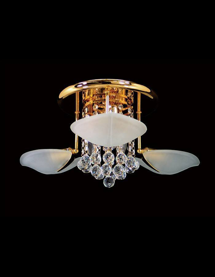 Asfour Crystal - Petal Six Light Asfour Crystal Close To Ceiling Light