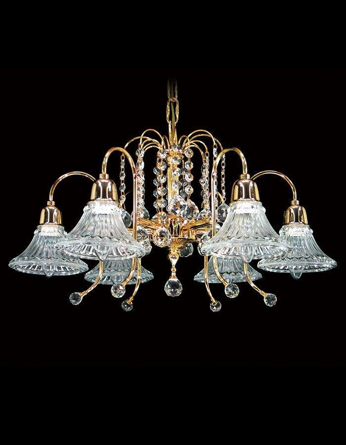 Asfour Crystal - Philae Six Light Asfour Crystal Chandelier
