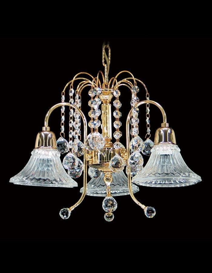 Asfour Crystal - Philae Three Light Asfour Crystal Chandelier